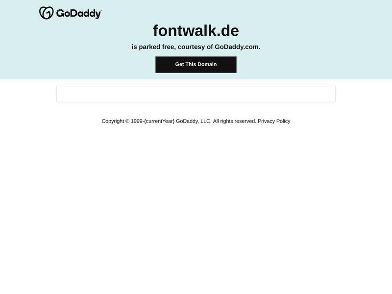 Apercite example for http://fontwalk.de/