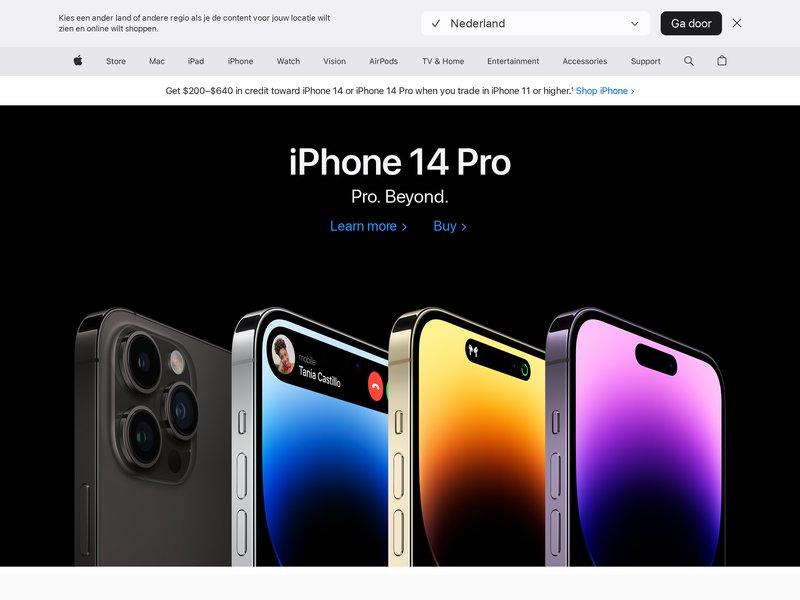 Apercite example for https://www.apple.com/