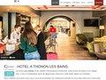 screenshot http://lecomterouge.com/ Hôtel restaurant le comte rouge à thonon