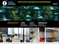 screenshot http://www.aires-entreprises.com Lyon immobilier de bureaux, locaux d'entreprise