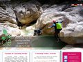 screenshot http://www.canyoning-sudest.com Canyoning sud est