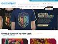 screenshot http://www.checkpoint-tshirt.com Checkpoint - vente de tshirt de jeu-vidéo