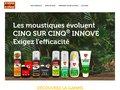 screenshot http://www.cinq-cinq.fr/ Produit anti moustique, moustiquaire - cinq cinq