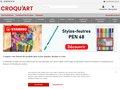 screenshot http://www.croquart.com Croquart materiel de peinture, dessin et écriture