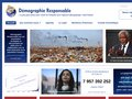 screenshot http://www.demographie-responsable.org Démographie responsable