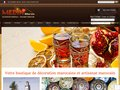 screenshot http://www.medinmaroc.com/ Medinmaroc/décoration orientale, artisanat marocai