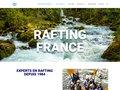 screenshot http://www.rafting.fr Séjours, week-ends et voyages en rafting canoë kay