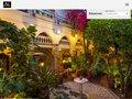 screenshot http://www.riadmalika.com Riad malika, maison d'hote marrakech