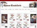 screenshot http://www.thiers-coutellerie.fr Thiers coutellerie, vente de couteaux laguiole