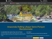 Anaconda rafting sur la vallée de l'Ubaye