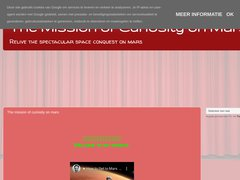 The mission of curiosity on mars
