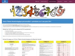 Numérologie gratuite - étude numérologique et prévisions sur 3 ans