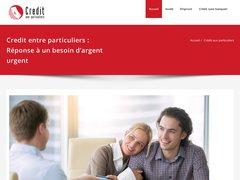 Crédit entre particuliers en ligne