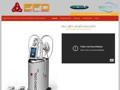 EFD - Esthétique - Formation & Distribution pour la région Provence - Alpes - Côte d'Azur.