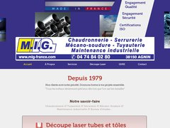 MIG France – Métallurgie Giraud est spécialisé en chaudronnerie et tuyauterie industrielle