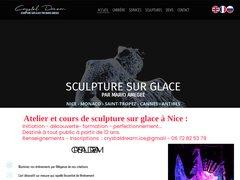 Sculpture sur glace, crystaldream mario AMEGEE