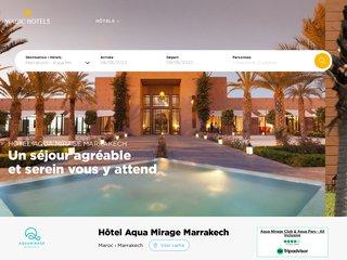 Aqua Mirage : Hôtel 4 étoiles et aqua parc à Marrakech