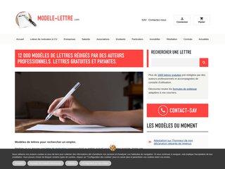 Modele Lettre