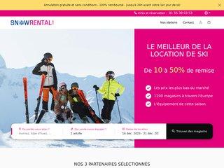 Snowrental : location de ski et snowboard discount
