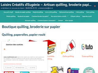 Les Loisirs Créatifs d'Eugénie : quilling, broderie papier, papier quilling Made in France