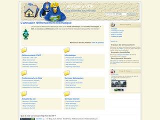 screenshot http://annuaire.vdp-digital.com Annuaire nouvelles technologies du web