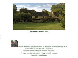 screenshot http://beauvert.net Gite de caractère en dordogne