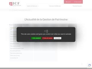 screenshot http://blog.icf.Fr Analyses sur l'investissement patrimonial
