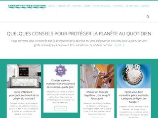 screenshot http://concept-et-realisation.fr Menuiserie agencement concept et réalisation