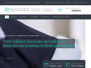 screenshot http://delachaise-avocat.fr Cabinet d'avocats de la chaise