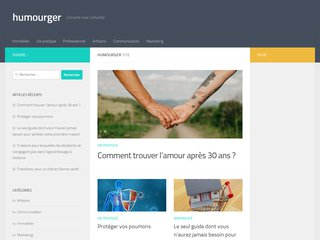 screenshot http://humourger.com Humourger site d'humour