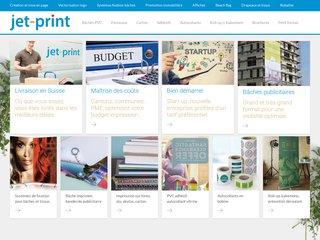 Jet-Print.ch, création et impression, du petit au grand format, spécialiste tous supports, du papier au dibond, en passant par le Forex, la bâche PVC, le PVC adhésif.