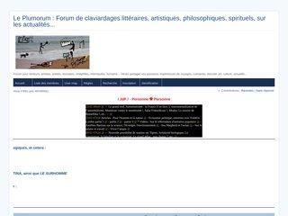 screenshot http://leplumorum.free.fr Forum littéraire et artistique - le plumorum