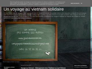 screenshot http://ludovietnam.blogspot.com Un voyage au vietnam solidaire