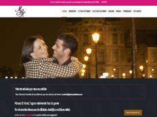 screenshot http://monceausthonore.com Agence matrimoniale monceau st honoré