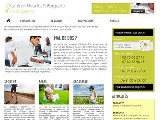 screenshot http://osteopathe-lille-lomme.fr Cabinet d'ostéopathie de lille lomme lambersart