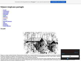 screenshot http://pasopicao.fr.gd Séjours tropicaux partagés