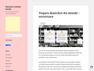 screenshot http://recette-cuisine-facile.fr Recette cuisine facile