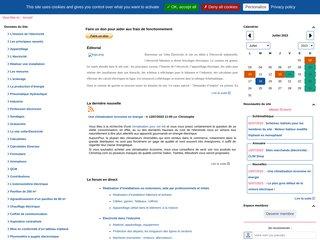 screenshot http://volta-electricite.info/ Volta Électricité