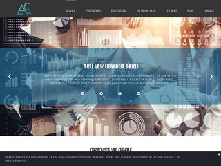 screenshot http://www.abime-concept.com Abime concept: création de site web à grenoble