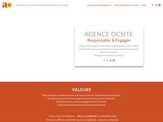 screenshot http://www.agence-ocsite.fr Agence oc.site