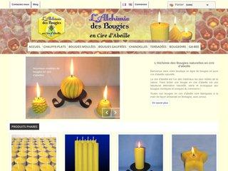 screenshot http://www.alchimiedesbougies.fr/ L'alchimie des bougies