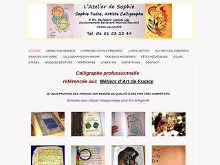 screenshot http://www.animation-calligraphe06.fr