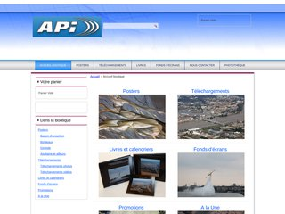 screenshot http://www.api-photo.net/ Photo aerienne en aquitaine