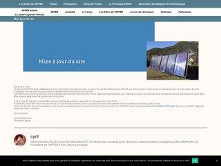 screenshot http://www.apper-solaire.org/ Groupement d'achat de matériels solaire