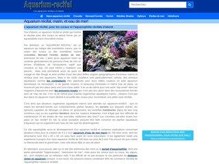 screenshot http://www.aquarium-recifal.fr/ Aquarium récifal