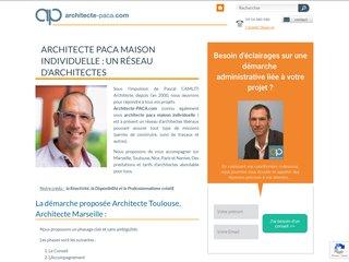 screenshot http://www.architecte-paca.com Plans de maisons bois et économe