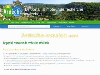 screenshot http://www.ardeche-evasion.com Ardèche