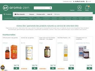 screenshot http://www.aroma-zen.com Gemmothérapie: aroma-zen.com