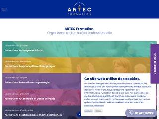 screenshot http://www.artec-formation.fr