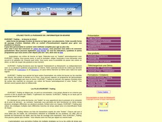 screenshot http://www.automate-de-trading.com Bourse en direct ligne etude paris fr cotation